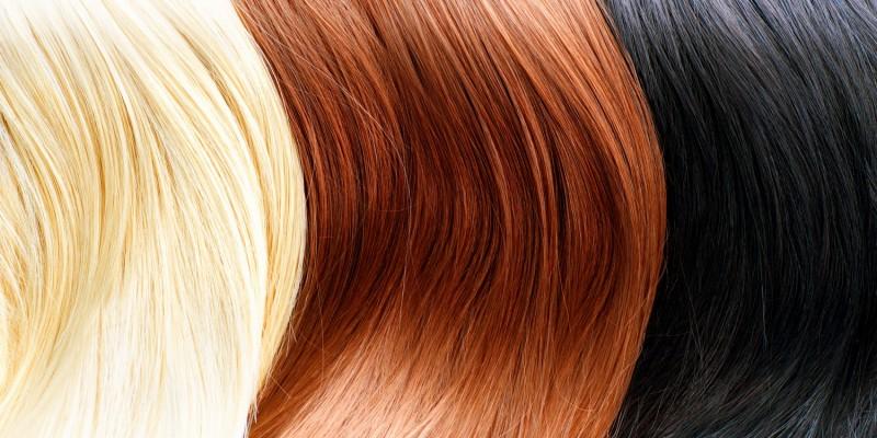 Blonde, braune und schwarze Haare