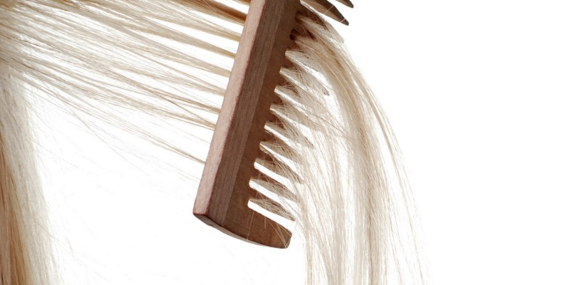 Blonde Strähne