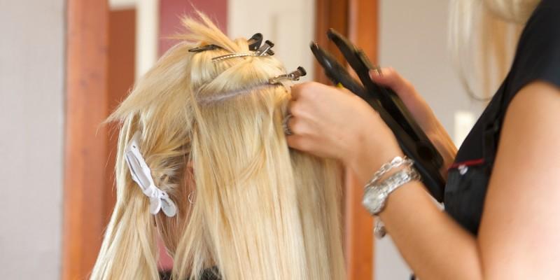 Extensions beim Friseur